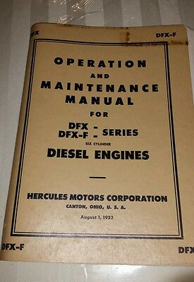 Operation and maintenance manual for DFX DFX-F Series six cylinder Hercules dies