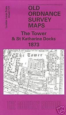 Map Of The Tower & St Katharine Docks 1873