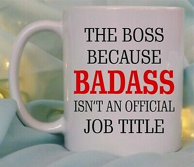 I Prefer the Term Badass Boss Man Manager Mug and Coaster by Inky Penguin
