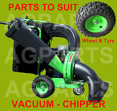 Replacement Tyre And Wheel Assembly For A Chipper Shredder Vacuum Machine