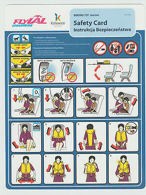 Safetycard FLYLAL CHARTERS BOEING 737 300/500