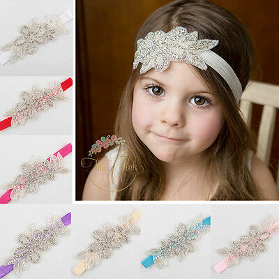 Baby Girl Toddler Princess Rhinestone Flower Headband Hairband Hair Accessories