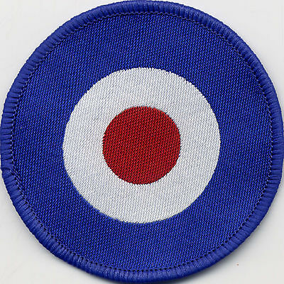 Target Scooter Mod Woven Badge Patch Circle 71mm Diameter UK Manufactured
