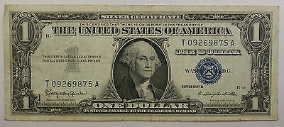 1957 One $1 Dollar Silver Certificate Notes VG-VF Old US Currency