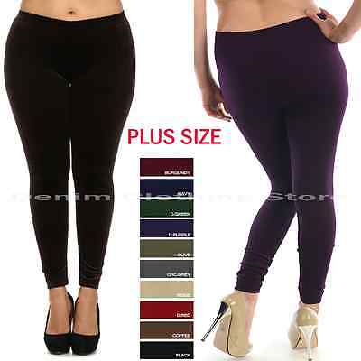 Plus Size Women Lady Fleece Seamless Warm Thick Lined Winter Leggings Pants Lot