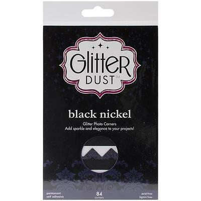 Therm-O-Web Scrapbook Adhesives Black Glitter Dust Scrapbook Photo Corners