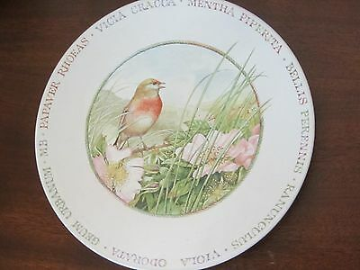 BEAUTIFUL Marjolein Bastin China Plate Wildflower Meadow Robin 8""