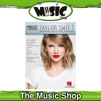 New Taylor Swift Music Book for Vocal & Piano - Original Keys for Singers