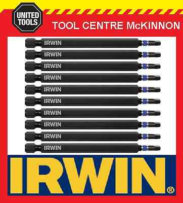 10 x IRWIN IMPACT SQUARE DRIVE SQ2 x 100mm POWER INSERT BITS FOR IMPACT DRIVERS