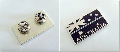 Police Flag Pin, Thin Blue Line, Australian Flag, TBL, Law Enforcement, Black