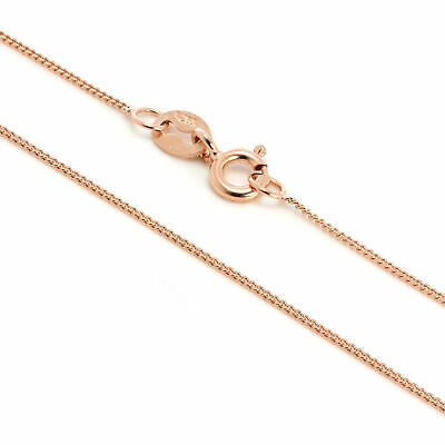 Rose Gold Dipped Sterling Silver Fine Diamond Cut Chain 14 - 32 Inches