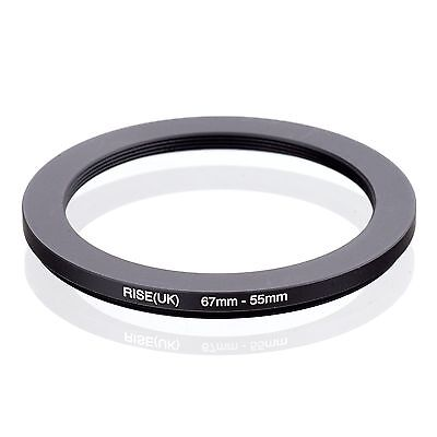 RISE(UK) 67mm-55mm 67-55 mm 67 to 55 Step down Ring Filter Adapter black