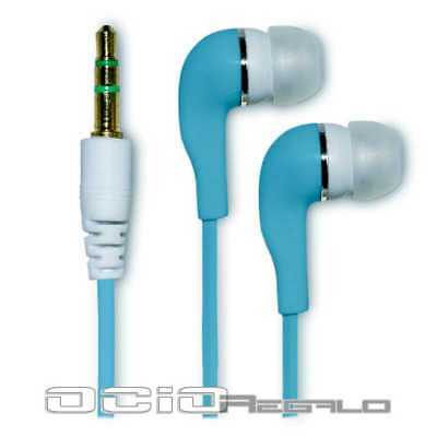 Auriculares para Huawei Ascend G6 4G P6 S P6S Cascos Azul Jack 3,5 In-Ear Movil