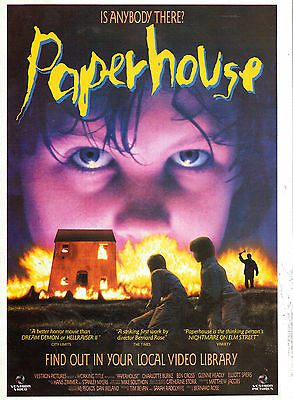 Paper House Film Advert Magazine Clipping  Not A Copy