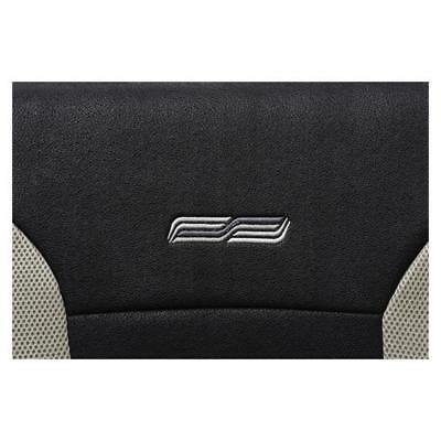 Beige & Black Sport Look Car Seat Covers - Skoda Fabia From March 2007-Washable