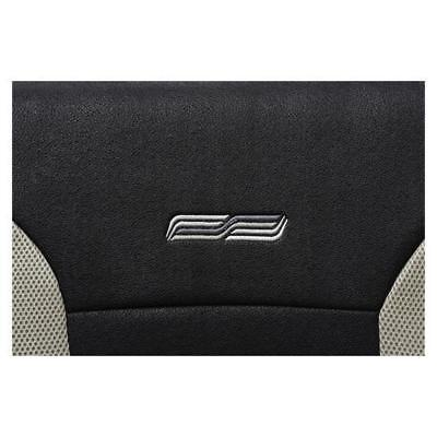 Beige & Black Leather Look Car Seat Covers - For Mercedes C-Class 2007 Onwards