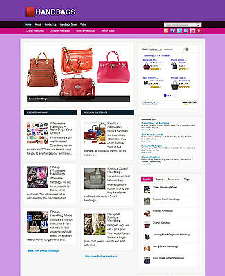 Handbag Affiliate Website With Free Domain And Hosting For Sale