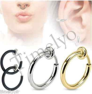 mode boucle de nez piercing faux anneau avec cristal sans percer septum nasale eur 1 00. Black Bedroom Furniture Sets. Home Design Ideas