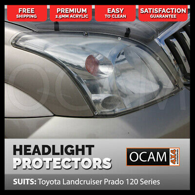 OCAM Headlight Headlamp Protectors for Toyota Prado 120 Series Lamp Covers