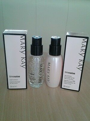 Lot-2 Mary Kay Timewise Day And Night Solution  Spf30 Two Bottles (New)