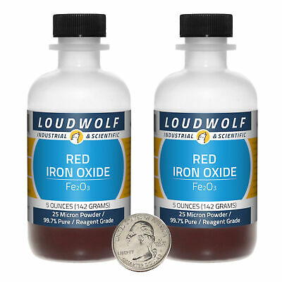 Iron Oxide / Red 25 Micron Powder / 10 Ounces / 99.7% Pure / SHIPS FAST FROM USA