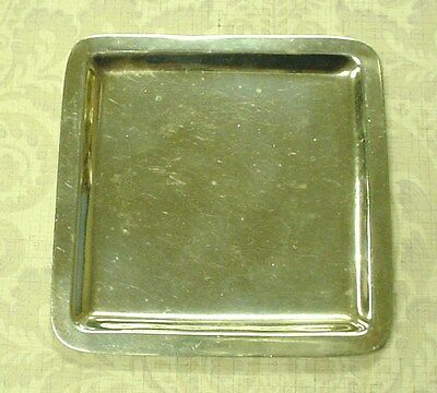 Juvento Lopez Reyes Mexico City Sterling Silver Modernistic Square Tray 51.8 G