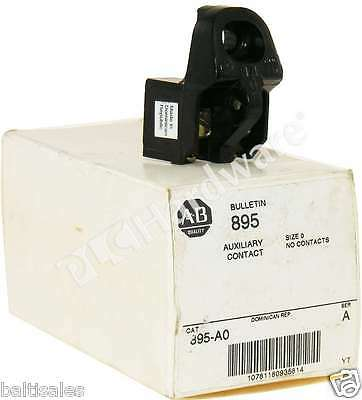 New Allen Bradley 895-A0 /A Auxiliary Contact Size 0 No Contacts