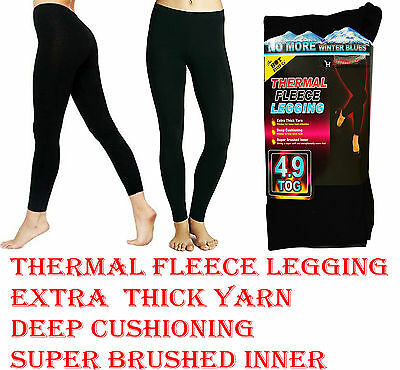 Women's Ladies Warm Winter Extra Hot Thermal Fleece Footless Legging  S-M L-XL