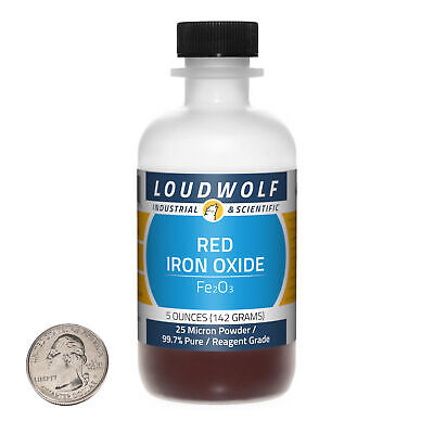 Iron Oxide / Red 25 Micron Powder / 5 Ounces / 99.7% Pure / SHIPS FAST FROM USA