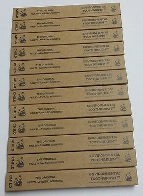 Environmental Toothbrush Bamboo  CHILD SOFT - FREE POST - 12 PACK
