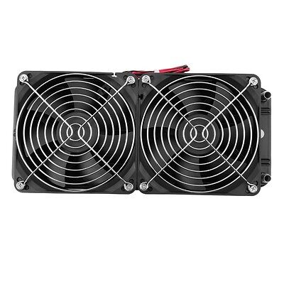 Aluminum 80mm Water Cooling Row Heat Exchanger Radiator+Fan for CPU PC LO