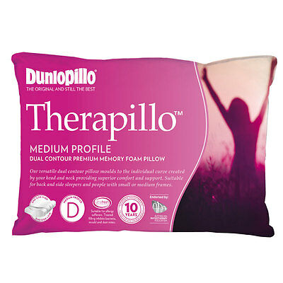 Dunlopillo Therapillo PREMIUM MEMORY FOAM Dual Contour Medium Profile Pillow