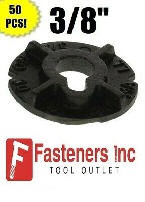 "(Qty 50) 3/8"" Round Malleable Washer Malleable Iron Plain Finish"