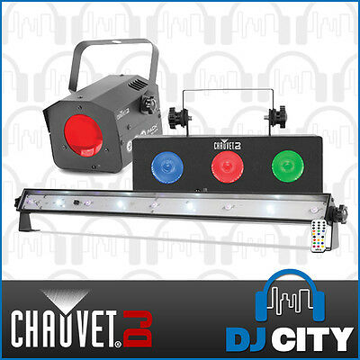 JAM Pack-Silver Chauvet DJ Light Pack Moon Flower, Tri Colour Wash, UV, Strobe