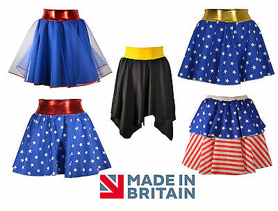 Ladies Superhero Skirts, Costume - woman stars hero, Spiderwoman Style