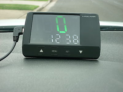 Polaris Gps Hud Plus Digital Speedo  Fixed Red Light & Speed Camera  Warning