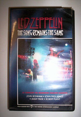 K7 Video Vhs Led Zeppelin The Song Remains The Same