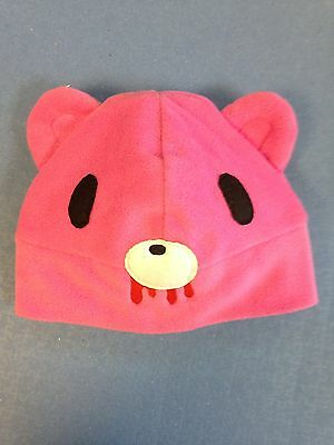 Kamikaze Fleece Hat - Childs - Designer Hats Ltd ed - PINK ZOMBIE BEAR  (014)