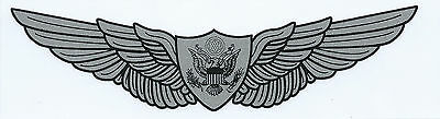 Us Army Aircrew Wings Outside Application Sticker - Made In The Usa!!