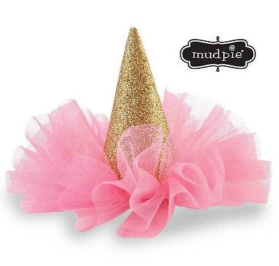 MUD PIE BIRTHDAY Girl Glitter Party Hat Clip - DISCONTINUED -  4.20 ... 2b1d4e53d64
