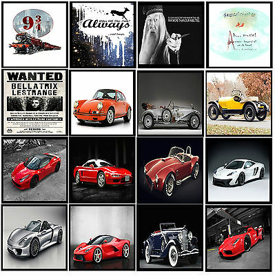 -A3- Harry Potter Best Quote & Super Sports Racing Car Posters Picture Art -#31