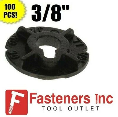 "(Qty 100) 3/8"" Round Malleable Washer Malleable Iron Plain Finish"