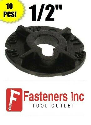 "(Qty 10) 1/2"" Round Malleable Washer Malleable Iron Plain Finish"