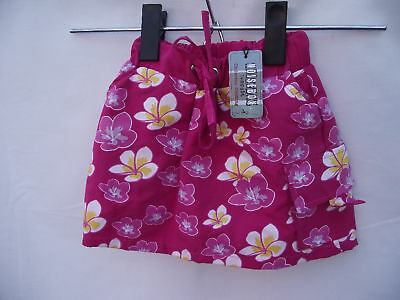 BNWT Girls Sz 00 Noise Box Hot Pink Floral Print Skirt