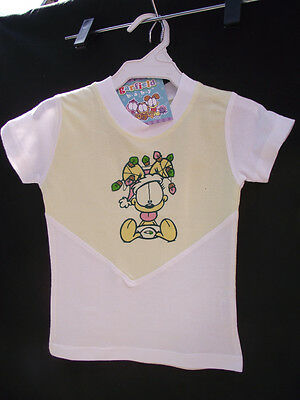 BNWT Baby Girls Sz 0 Super Soft 100% Cotton Garfield Baby Print Lemon T Shirt