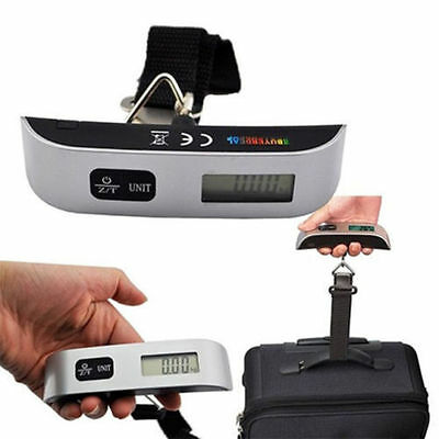 50g/50Kg 0.1lb/110lb Electronic Digital Portable Luggage Hanging Weight Scale CC