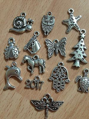 Bulk Lot Of Sliver Charms;jewellery Making,craft-Various Varities