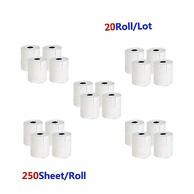 "20 Rolls 4""x6"" Direct Thermal Labels 250 Per Roll Compatible Zebra 2844 Eltron"