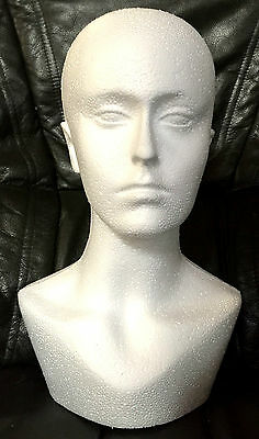 Polystyrene Female Dummy Mannequin Head Long For Hats,wigs, Display Shoulder