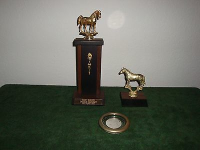 LOT Of 3 Vintage Horse Equistrian Trophies